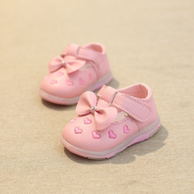 2016 the new baby shoes diamond sweet bowknot female baby toddler shoes, fashion antiskid soft bottom female baby toddler shoes