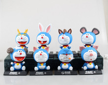 Hot Sale Japanese Anime Doraemon Animals Figures Children's Model Kid Toys High Quality PVC Giocattoli 12CM Brinquedos Juguetes