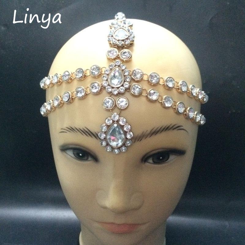 HC-102 Diamante head band hair jewelry wedding bridal head Jewelry birthday boho(China (Mainland))