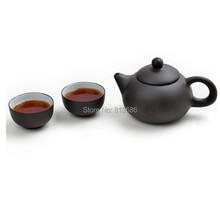 Travel Yixing Purple Teapot Tea cup Set Free Shipping