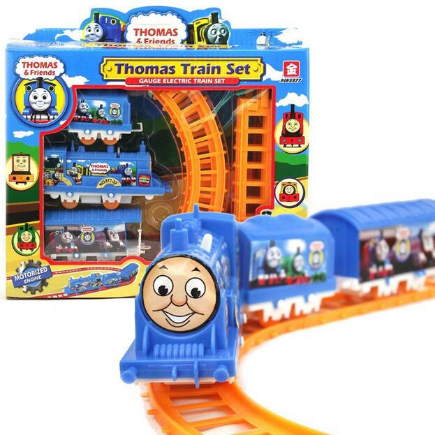 (2 pieces/lot) Thomas train electric eight rail cars tracks mini electric train set toy for kids gift free shipping TN838(China (Mainland))