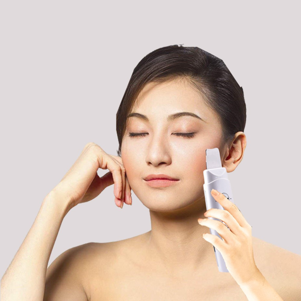 Фотография Rechargeable Deep Pores Cleansing Ultrasonic Face And Body Skin Cleaner Skin Scrubber Peeling With EMS Face Lift Function