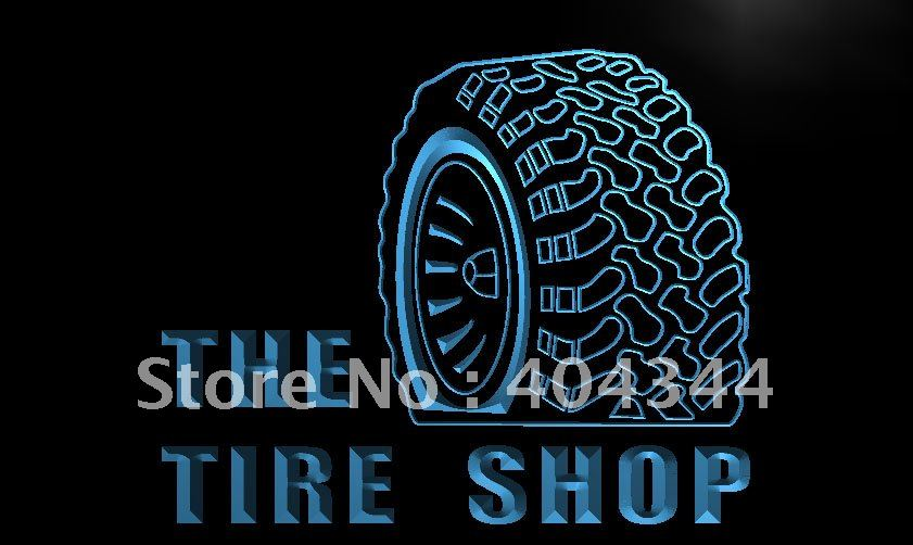 LM121- Tire Shop Car Auto Repair Beer LED Neon Light Sign home decor shop crafts(China (Mainland))