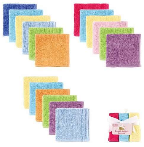 6pcslot Luvable Friends Baby Feeding Towels 100% Cotton Infant Baby Stuff Newborn Baby Care Products