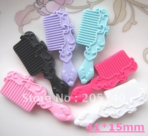 flat back resin comb 18pcs mixed 6colors(you can choose the colors you like )(China (Mainland))