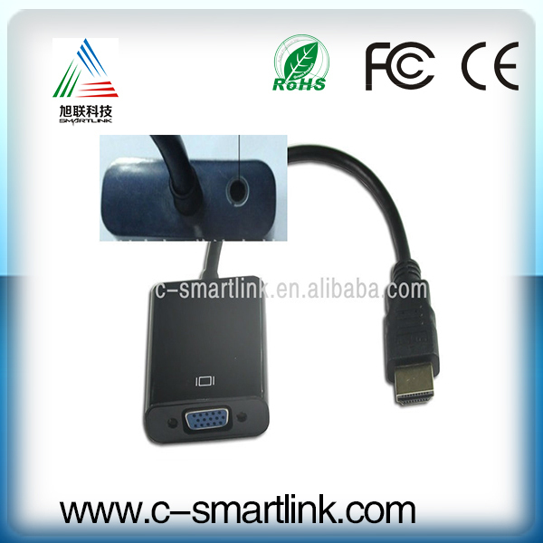 With Audio Output HDMI to VGA Converter cable