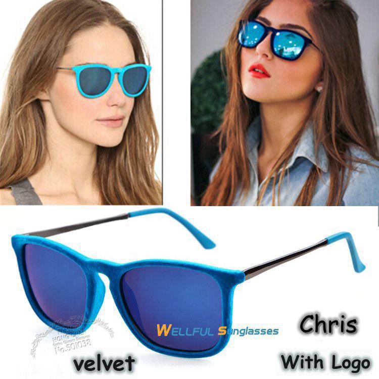 High Quality With Logo Men & Women Chris Velvet Brand Retro Sunglasses Vintage Inspired Elegant Metal Star oculos Sun Glasses(China (Mainland))