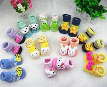2015 bebé Bambino sólido Cartoon antideslizante suelo vende calcetines cuatro estaciones bebé bebé sokken zapatos Scarpe Bambino calcetines zapatos del pesebre(China (Mainland))