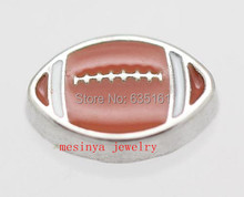10pcs American football floating charms for glass locket,FC-027
