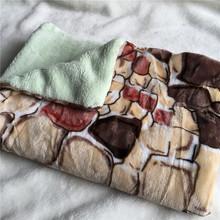 JK Double Thick Coral Fleece Blanket on Bed Plaid Cobertor Versatile Blanket Pet Nest Pad(China (Mainland))