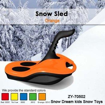 Free Shipping Hot Sale Kids Winter plastic snow outdoor sport -Ski sledge(orange/4PCS/CTN)