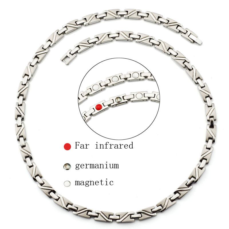 infrared germanium magnetic pure titanium necklace(China (Mainland))