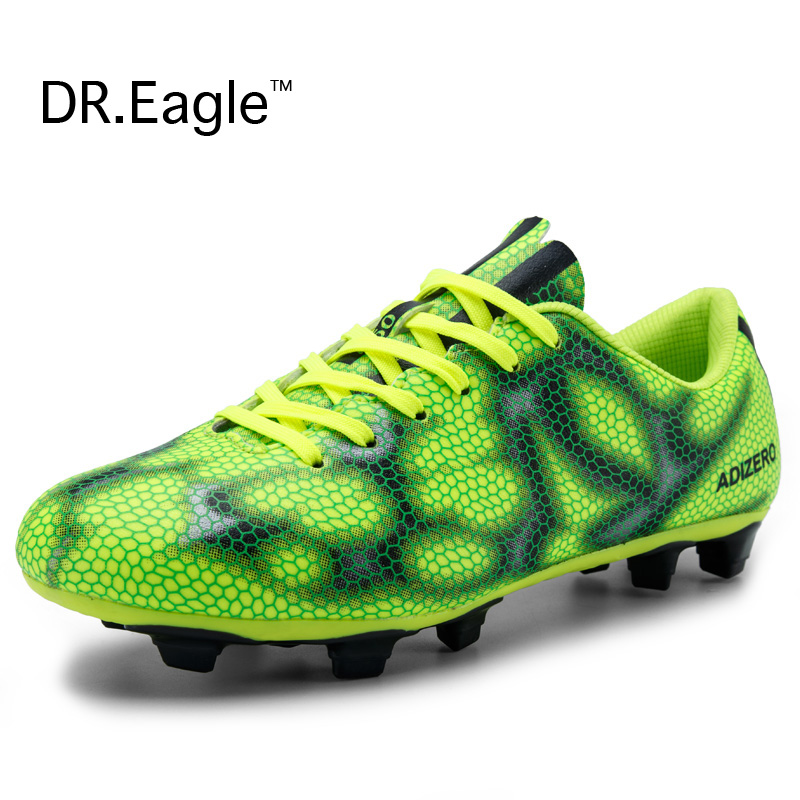 Indoor men's football shoes Kids cheap soccer boots cleats futbol spikes adult shoes football trainers 32-44 free shipping(China (Mainland))