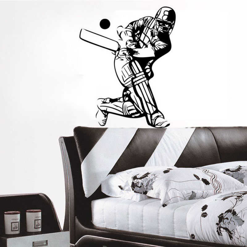 2015 new home decor accessories cricket sport player wall for Latest home decor items