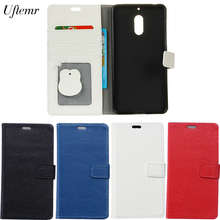 Uftemr Cases For Nokia6 Magnetic Genuine Leather Flip Wallet Cover Case Mobile phone Case For Nokia 6 TA-1000 TA-1003(China (Mainland))