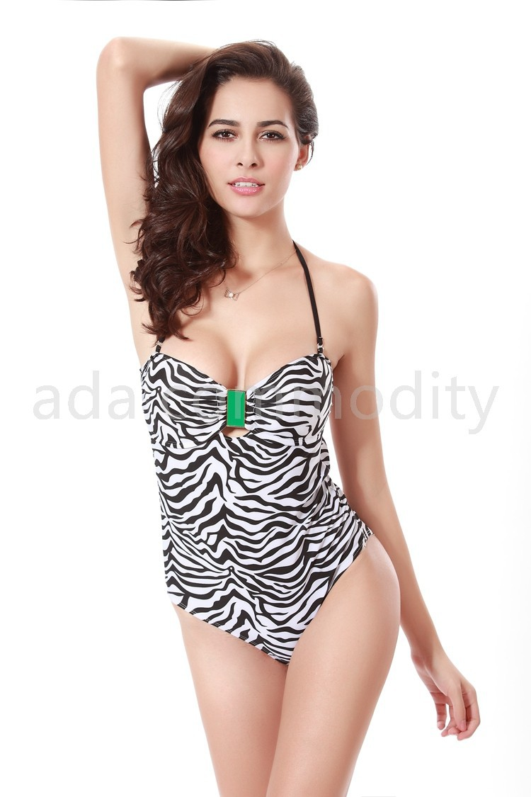 к 2015 году один кусок спинки леопарда печати купальник сексуальный бандаж высокий вырезать женщин Купальники Купальники