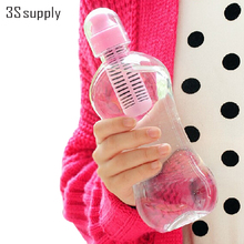 Hot 500ML Outdoor Activated Carbon Filter Water Bottle Sport Shaker Bottles Bicycle Bottle Drink Cup Travel Mugs Drinkware(China (Mainland))