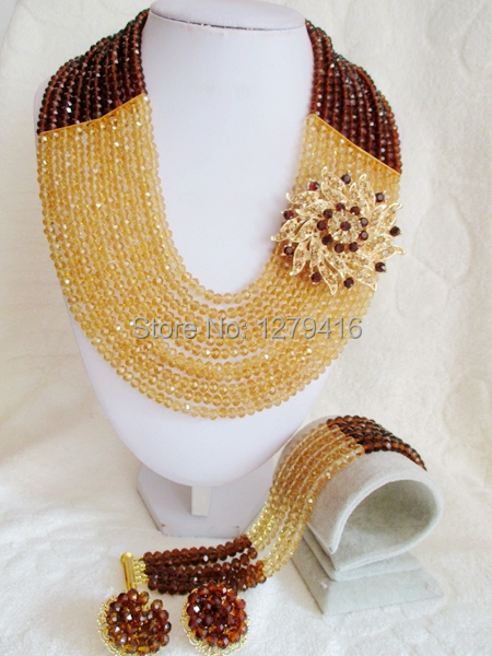 2014 Rushed  Classic Women Crystal Jewelry Sets New Arrived Nigeria Jewelry Set Necklace Africa Beads Set  AAT030<br><br>Aliexpress