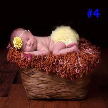 Baby Girls Newborn Photo props Fluffy Pettiskirts Tutu Princess Party Skirts Diaper Covers Ball Gown Matching Headbands Outfits(China (Mainland))