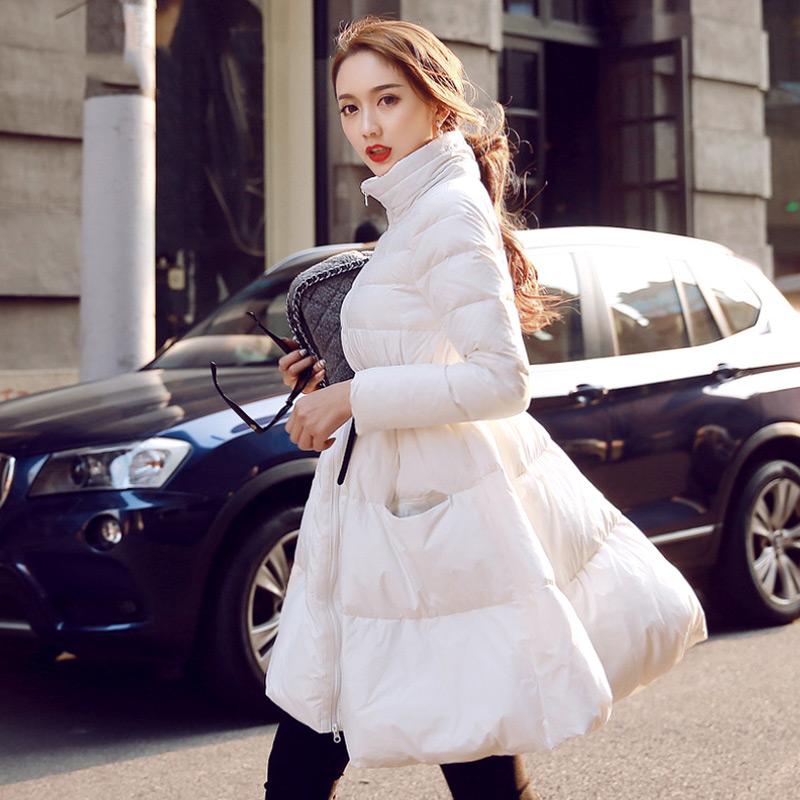 Winter women's 2016 loose cloak coat paragraph outerwear slim medium-long Down women's coat(China (Mainland))
