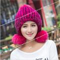 Russia 2016 Hot Sale Girls Mink Knitting Hat Autumn Winter Women Children Warm Thick Knitted Mink
