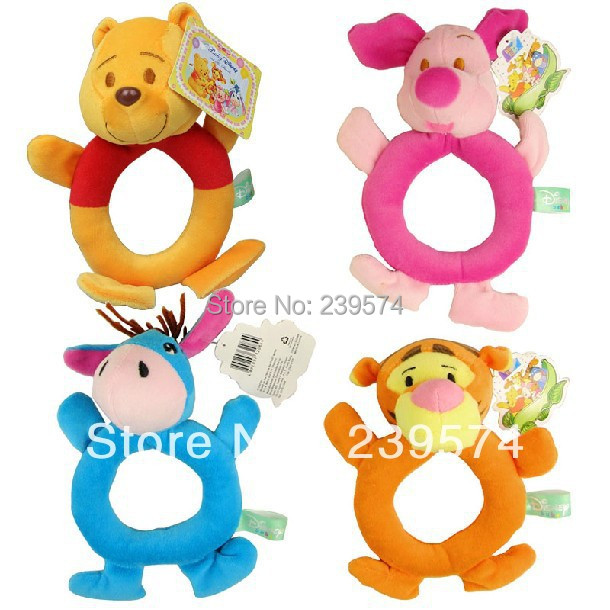 Free Shipping Baby Plush Toy Baby Bell /Kids Toys /Children Gift Plush Bell 4pcs / lot (YL-001)(China (Mainland))