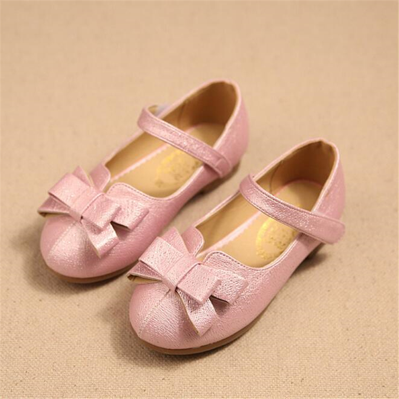 Girl's Single Leather PU Wedding Shoes For 3-7 Ages Kids Soft sole Princess Shoes t-x605