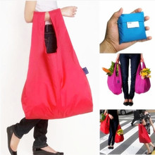 2 PC New Eco Shopping Travel Shoulder Bag Pouch Tote Handbag Folding Reusable Bags Home Garden 5 colors(China (Mainland))