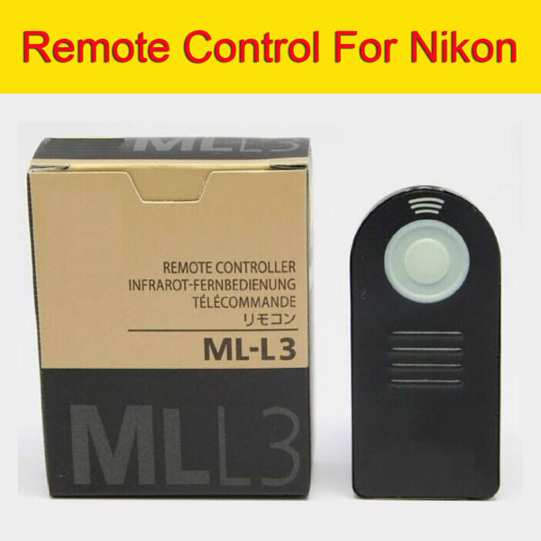 Boxed ML-L3 MLL3 Wireless Camera Shutter Remote Control For Nikon DSLR V2 J2 J3 D90 D3200 D7100 D7000 D5300 D5200 D300 D610 D600(China (Mainland))