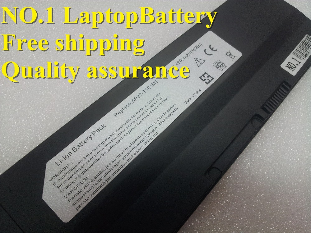 New Replacement 4900mah Laptop Batteries AP22 T101MT 7.3V 4900mAh For Asus Eee PC T101 Eee PC T101MT(China (Mainland))