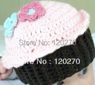 Newborn Toddler Crochet Hat Cartoon Cupcake OWL Monkey Hats Baby Girls Boys Flower Caps Children's Beanies EarFlaps Cotton 20pcs(China (Mainland))