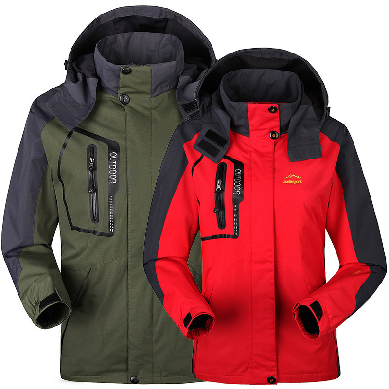 Spring autumn men Women jacket Outdoor Windbreaker Camping sports coat tourism mountain jackets waterproof Windproof - jiajia Co., Ltd. store