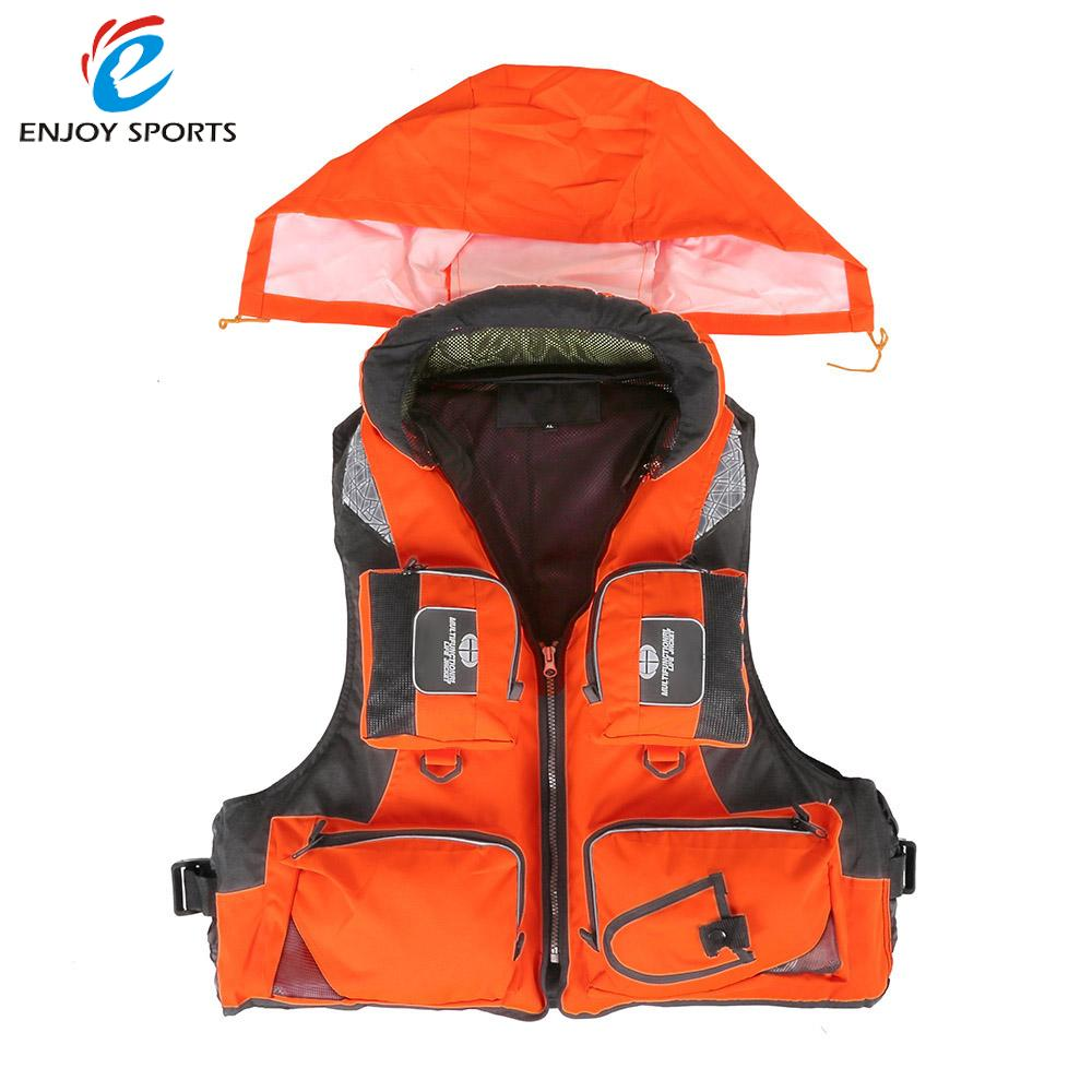 Life Jacket Adult Polyester Swimming Professional Life Vest For Drifting Boating Survival Fishing Safety Jacket Water Sport Wear(China (Mainland))
