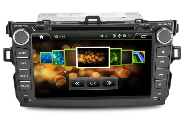 "New 8""Toyota corolla Car DVD Player with GPS Navigation TV Bluetooth Radio RDS,Steering wheel control,free shipping"