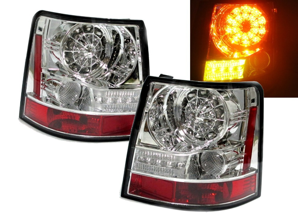 CrazyTheGod  Range Rover Sport 2006-2009 L320 LED Tail Rear Light CHROME for Land Rover(China (Mainland))