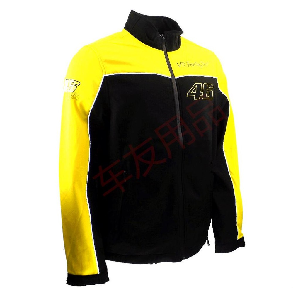Great Quality 2016 New pattern Sweater Yellow Valentino Rossi moto gp No. 46 Racing Suit Motorcycle Jackets