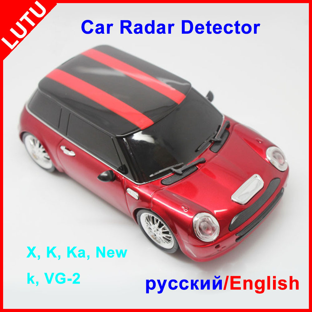 2015 New Car Style Orange And Red Color For Option Russian And English Languge Voice Alert 16 Band Laser Radar Detector