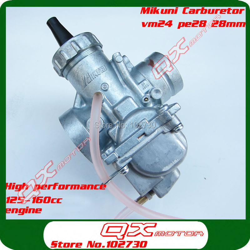 Mikuni Carburetor VM24 PE28 High Performance Carburetor for 150cc 160cc dirt pit bikes monkey bikes  Free Shipping