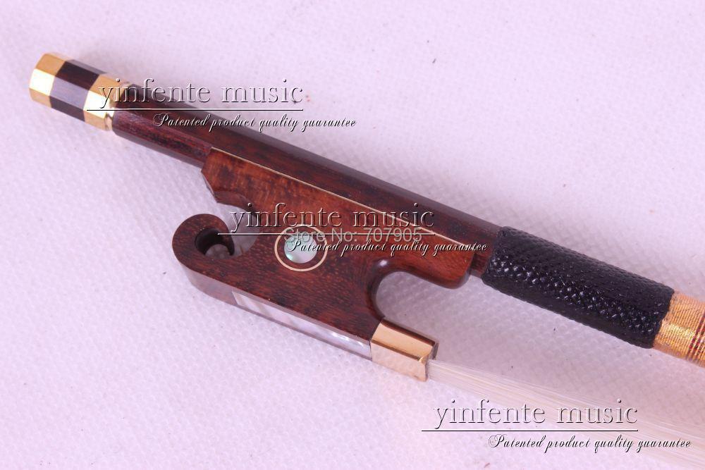 One Violin Bow Ox horn F rog Brazilwood Round Stick New 4/4 1 pcs #10 <br><br>Aliexpress