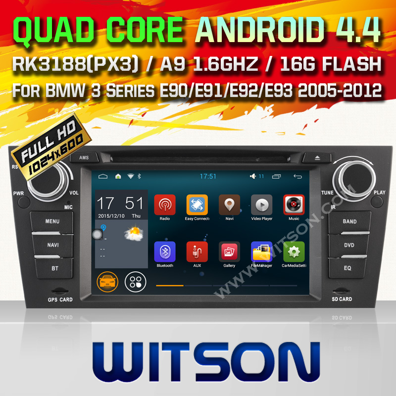 WITSON Android 4.4 CAR DVD GPS for BMW E90/E91/E92/E93 car audio radio bluetooth built in wifi car stereo Quad-Core android dvd(China (Mainland))