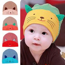 Cute 3D Cat Striped Baby Infant Kid Boy Girl Soft Warm Hat Cap Cotton Beanie (China (Mainland))