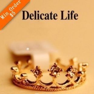 2015 New Fashion Hot-Selling Factory Wholesale Price Elegant Crown Finger Ring R678