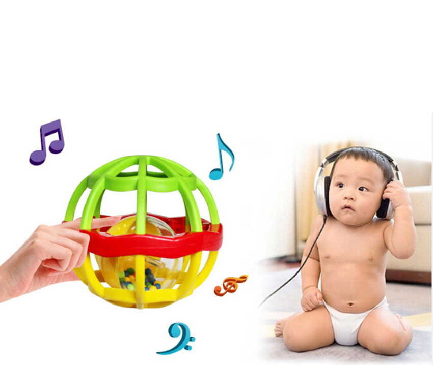 Baby Kids Toys Educational Newborn Musical Ball Bell Toy Rattles Gifts CFor Boys Girls Free Shipping(China (Mainland))