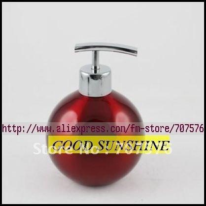 10pcs/lot Wholesale Bathroom Kitchen Stainless steel Lotion bottle / soap dispenser Ball bottle GT-124 Capacily: 500ml T-head