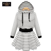 European And American Style Fashion Plus Size Sweatshirt Hot-selling Stripped Hoodies Women High Quality Casaul Moleton XL-5XL (China (Mainland))