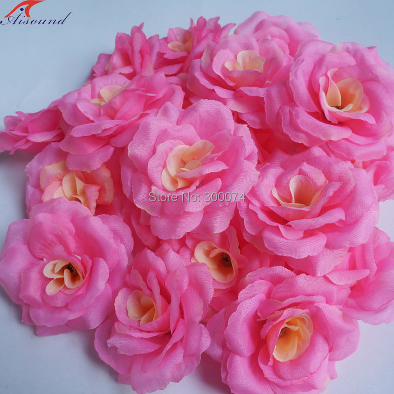 Buy 100 pcs lot 8cm hand craft flowers for Flower heads for crafts