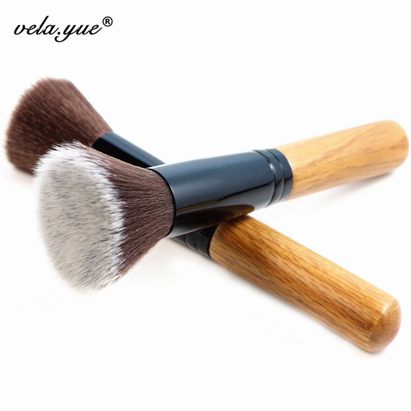 Professioinal Powder Brush Flat Top Multifunctional Fiber Hair Face Makeup - vela.yue Official Store store