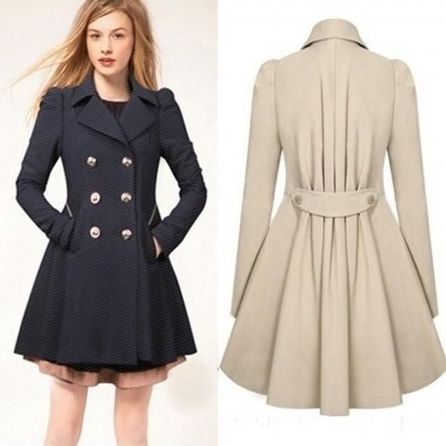 2016 зима осень пальто женщин casaco feminino abrigos mujer Онлайн новый классический Двубортный Черное пальто Плюс размер пальто