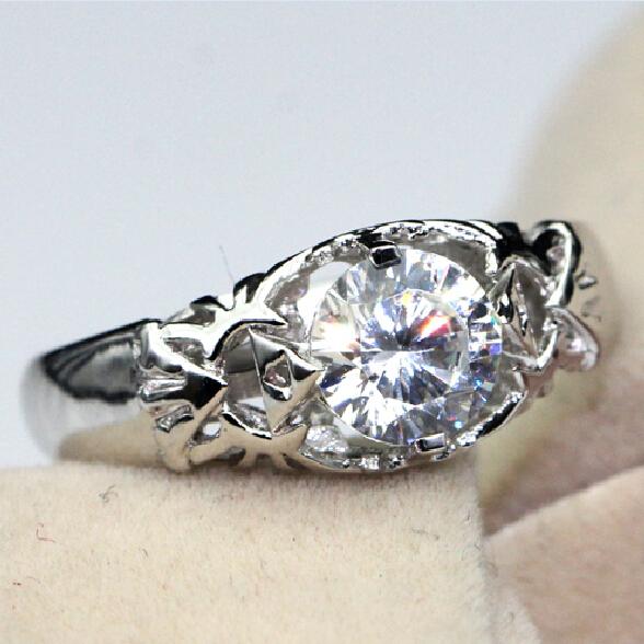 Anel Zelda Feminino Ring 0 8 Carat Simulated Diamond Silver Ring For Women Customized Game