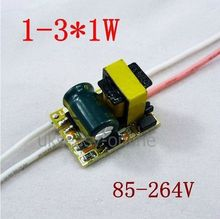5pcs (1~3)*1W ,AC 85~265v High power Driver For LED Lamp Light Constant Current Driver Power Supply(China (Mainland))